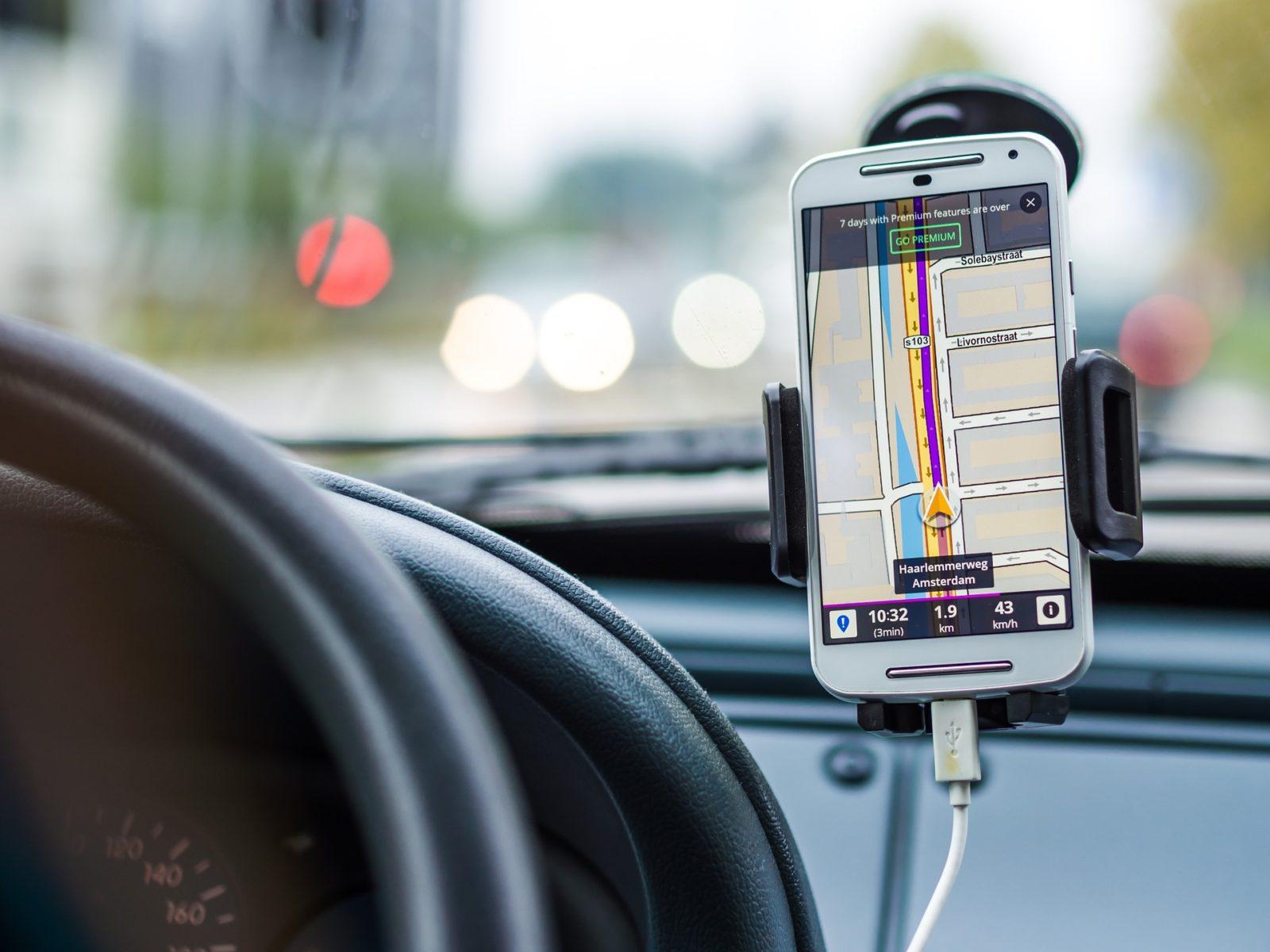 GPS навигатор в авто